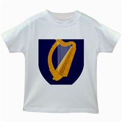 Coat Of Arms Of Ireland Kids White T-shirts by abbeyz71
