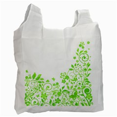 Butterfly Green Flower Floral Leaf Animals Recycle Bag (one Side) by Mariart