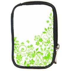 Butterfly Green Flower Floral Leaf Animals Compact Camera Cases by Mariart