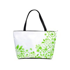 Butterfly Green Flower Floral Leaf Animals Shoulder Handbags by Mariart