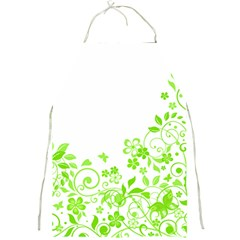 Butterfly Green Flower Floral Leaf Animals Full Print Aprons