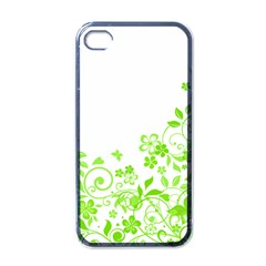 Butterfly Green Flower Floral Leaf Animals Apple Iphone 4 Case (black) by Mariart