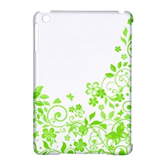 Butterfly Green Flower Floral Leaf Animals Apple Ipad Mini Hardshell Case (compatible With Smart Cover) by Mariart