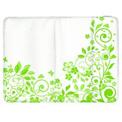 Butterfly Green Flower Floral Leaf Animals Samsung Galaxy Tab 7  P1000 Flip Case by Mariart