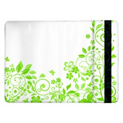 Butterfly Green Flower Floral Leaf Animals Samsung Galaxy Tab Pro 12 2  Flip Case by Mariart