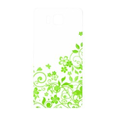 Butterfly Green Flower Floral Leaf Animals Samsung Galaxy Alpha Hardshell Back Case by Mariart