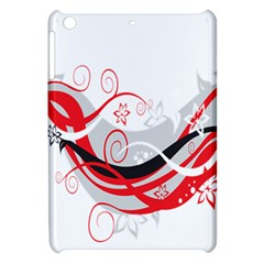 Flower Floral Star Red Wave Apple Ipad Mini Hardshell Case by Mariart