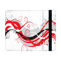 Flower Floral Star Red Wave Samsung Galaxy Tab Pro 8 4  Flip Case by Mariart
