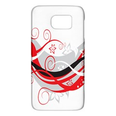 Flower Floral Star Red Wave Galaxy S6 by Mariart