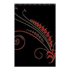 Flower Leaf Red Black Shower Curtain 48  X 72  (small)  by Mariart