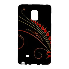Flower Leaf Red Black Galaxy Note Edge by Mariart