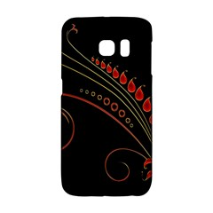 Flower Leaf Red Black Galaxy S6 Edge by Mariart