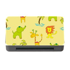 Cute Animals Elephant Giraffe Lion Memory Card Reader With Cf by Mariart