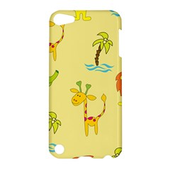 Cute Animals Elephant Giraffe Lion Apple Ipod Touch 5 Hardshell Case by Mariart