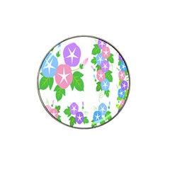Flower Floral Star Purple Pink Blue Leaf Hat Clip Ball Marker (4 Pack) by Mariart