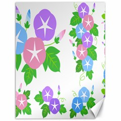 Flower Floral Star Purple Pink Blue Leaf Canvas 18  X 24   by Mariart