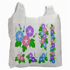 Flower Floral Star Purple Pink Blue Leaf Recycle Bag (one Side) by Mariart