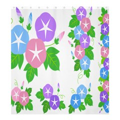 Flower Floral Star Purple Pink Blue Leaf Shower Curtain 66  X 72  (large)  by Mariart