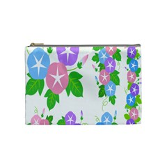 Flower Floral Star Purple Pink Blue Leaf Cosmetic Bag (medium)  by Mariart