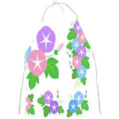 Flower Floral Star Purple Pink Blue Leaf Full Print Aprons by Mariart