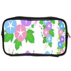 Flower Floral Star Purple Pink Blue Leaf Toiletries Bags by Mariart