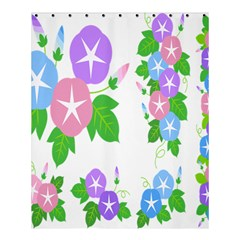 Flower Floral Star Purple Pink Blue Leaf Shower Curtain 60  X 72  (medium)  by Mariart