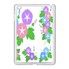 Flower Floral Star Purple Pink Blue Leaf Apple Ipad Mini Case (white) by Mariart