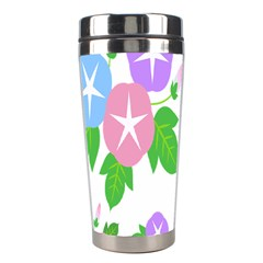 Flower Floral Star Purple Pink Blue Leaf Stainless Steel Travel Tumblers by Mariart