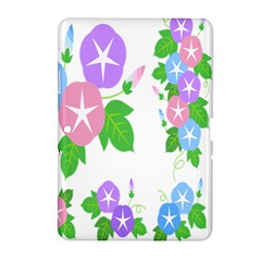 Flower Floral Star Purple Pink Blue Leaf Samsung Galaxy Tab 2 (10 1 ) P5100 Hardshell Case  by Mariart