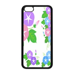 Flower Floral Star Purple Pink Blue Leaf Apple Iphone 5c Seamless Case (black) by Mariart