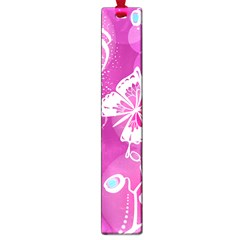 Flower Butterfly Pink Large Book Marks