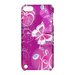 Flower Butterfly Pink Apple Ipod Touch 5 Hardshell Case With Stand by Mariart