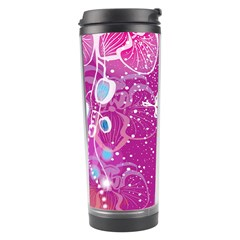 Flower Butterfly Pink Travel Tumbler