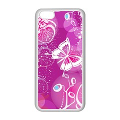 Flower Butterfly Pink Apple Iphone 5c Seamless Case (white)