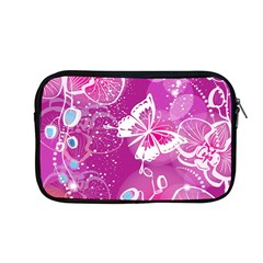 Flower Butterfly Pink Apple Macbook Pro 13  Zipper Case by Mariart