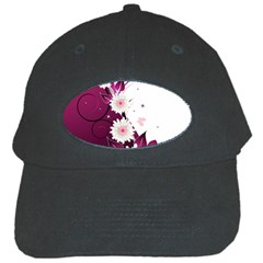Flower Purple Sunflower Star Butterfly Black Cap by Mariart