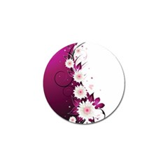 Flower Purple Sunflower Star Butterfly Golf Ball Marker by Mariart