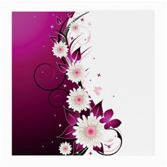 Flower Purple Sunflower Star Butterfly Medium Glasses Cloth (2 Side) by Mariart