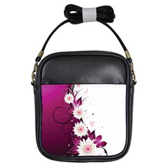 Flower Purple Sunflower Star Butterfly Girls Sling Bags by Mariart
