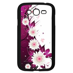 Flower Purple Sunflower Star Butterfly Samsung Galaxy Grand Duos I9082 Case (black) by Mariart