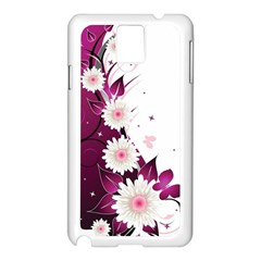 Flower Purple Sunflower Star Butterfly Samsung Galaxy Note 3 N9005 Case (white) by Mariart