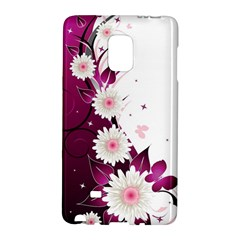 Flower Purple Sunflower Star Butterfly Galaxy Note Edge by Mariart