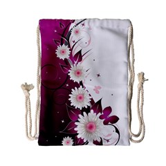 Flower Purple Sunflower Star Butterfly Drawstring Bag (small) by Mariart