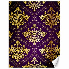 Flower Purplle Gold Canvas 18  X 24   by Mariart