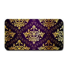 Flower Purplle Gold Medium Bar Mats by Mariart