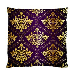 Flower Purplle Gold Standard Cushion Case (two Sides) by Mariart