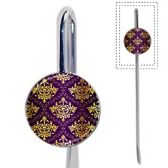 Flower Purplle Gold Book Mark by Mariart