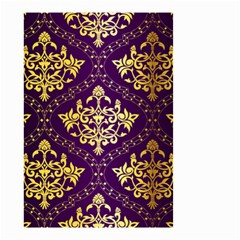 Flower Purplle Gold Small Garden Flag (two Sides) by Mariart