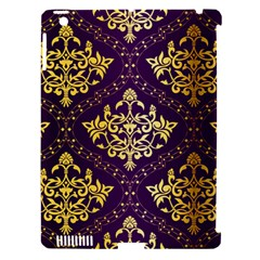 Flower Purplle Gold Apple Ipad 3/4 Hardshell Case (compatible With Smart Cover) by Mariart