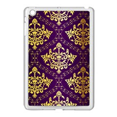 Flower Purplle Gold Apple Ipad Mini Case (white) by Mariart